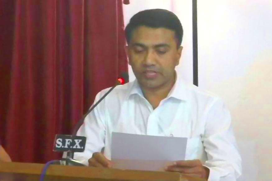 BJP's Pramod Sawant Takes Oath as Goa Chief Minister at 2am Ceremony, 11 Ministers Are Also Sworn in