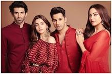Alia Bhatt, Varun Dhawan, Sonakshi Sinha, Aditya Roy Kapur Look Regal in Red for Kalank's Event