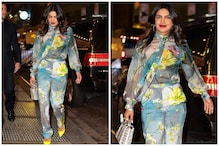 Priyanka Chopra Looks Spring-ready in Floral Outfit & Neon Pumps at Broadway show