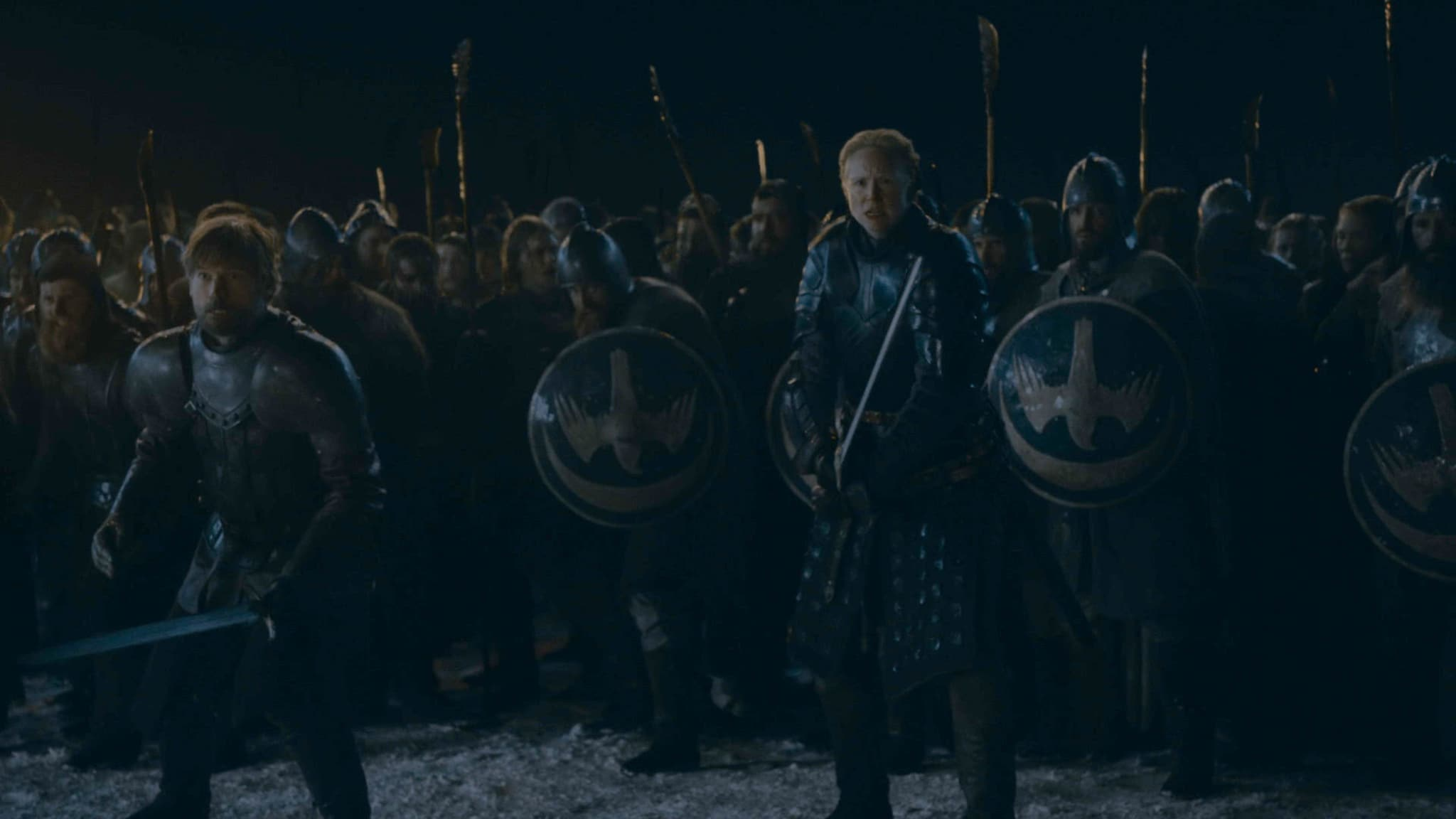 Gwendoline Christie and Nikolaj Coster-Waldau in Ep 03 of GoT S08