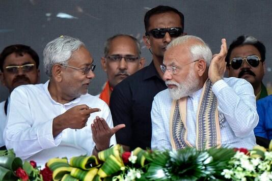 File photo of Bihar CM Nitish Kumar with Prime Minister Narendra Modi