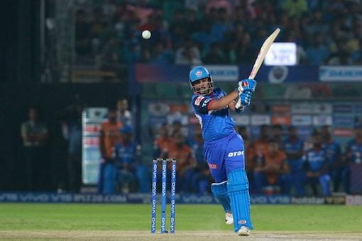 Prithvi Shaw plays a shot. (IPL)