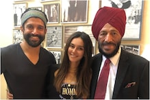 Shibani Dandekar Poses with Real and Reel Life Milkha Singh, See Here