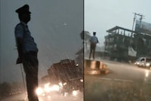 Assam Traffic Cop Braves Rain Storm to Perform Duty, Gets Lauded For His Dedication