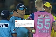 Dhoni Losing Cool and Storming Onto the Field to Confront Umpires Has Twitter in Disbelief
