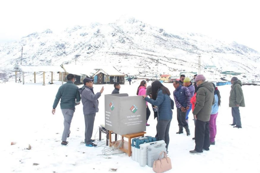 Behind The Scenes, Polling Officials in Sikkim Prepare to Set up Booths at Highest Altitude