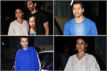 In Pics: Alia, Varun, Natasha Dalal, Janhvi Kapoor And Others Attend Kalank Screening