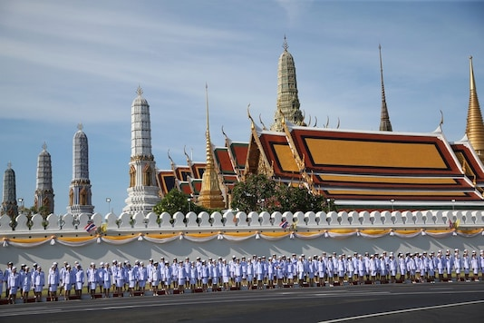 Thai officer stand outside Grand Palace in Bangkok, Thailand. (Image: AP)