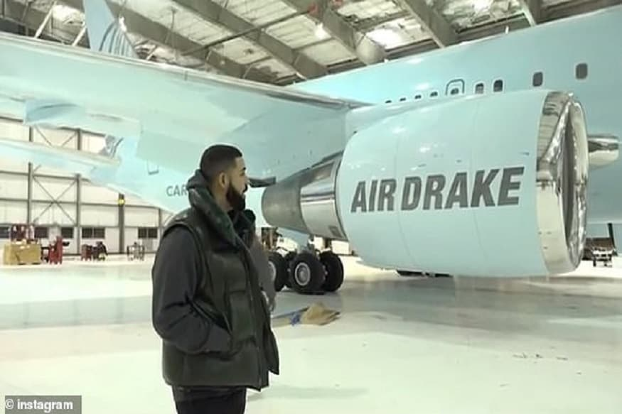 Drake Buys a Whopping Rs 1300 Crore Boeing 767-300F Private Jet, Shares a Video on Instagram