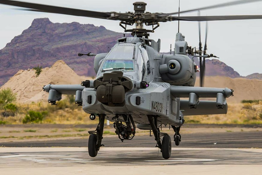 The Apache Guardian attack helicopter. (Photo Courtesy: Twitter/IAF_MCC)