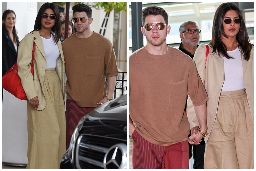 Priyanka Chopra Bids Adieu to Cannes in Androgynous Sand-coloured Suit