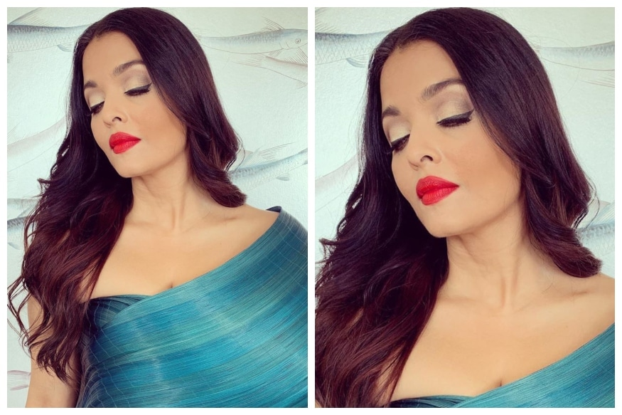 Aishwarya Rai is a Vision in Metallic Blue Outfit for Latest Cannes Red Carpet Appearance