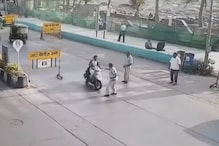 Reckless Scooter Rider Rams into Traffic Police When Asked To Stop - Watch Video
