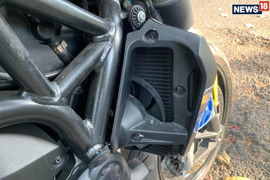 Ducati Monster 821.'s radiator fan. (Image: Abhinav Jakhar/News18.com)