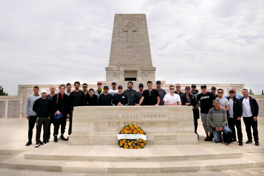 In Pics, Australian Cricket Team Visit WW1 Battlegrounds