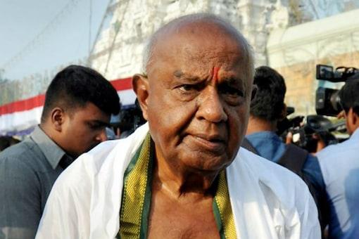 File photo of JD(S) patriarch HD Deve Gowda.