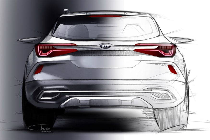 Its strong shoulder line, matched with a glasshouse which tapers towards the rear of the car, as well as rear bumper with a metallic muffler effect. (Image Source: Kia Motors)