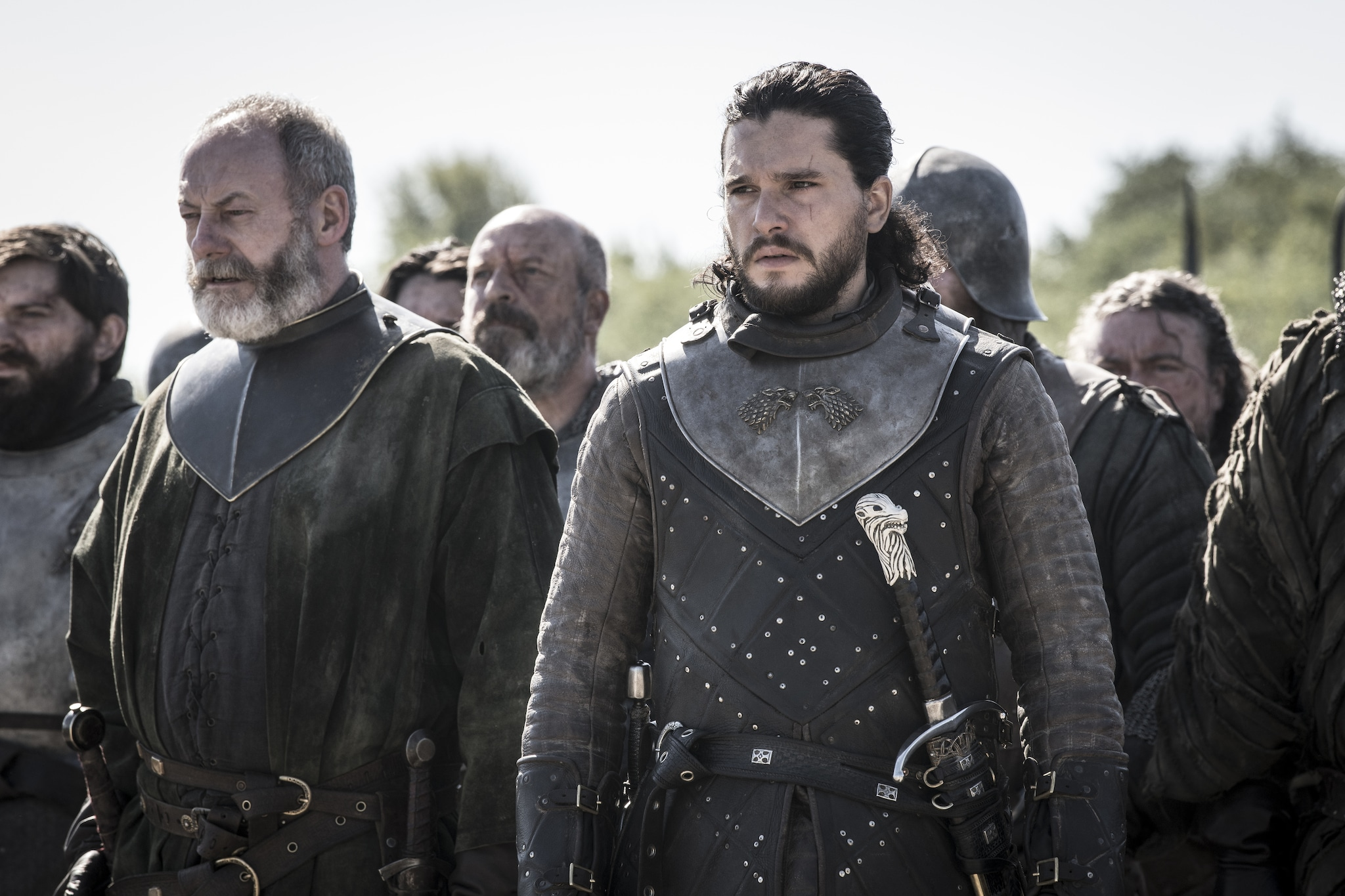 Kit Harington and Liam Cunningham in a still from Ep 05 S08