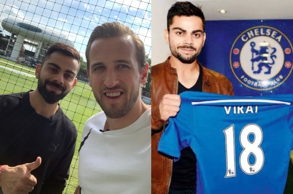 Virat Kohli Poses With Harry Kane, Abhishek Bachchan Pulls Out Old Chelsea Photo to Troll Indian Captain