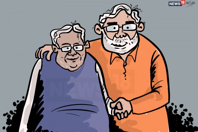Nitish-Kumar-and-Modi-alliance-Illustration