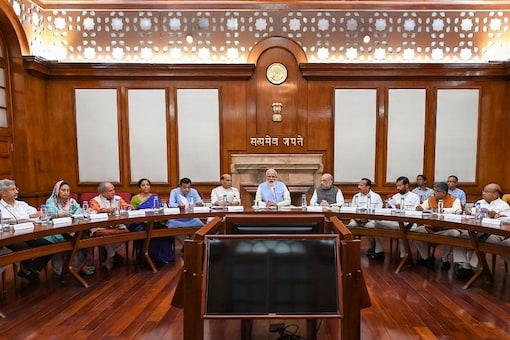 A file photo of PM Narendra Modi with the Union Cabinet. (PTI)