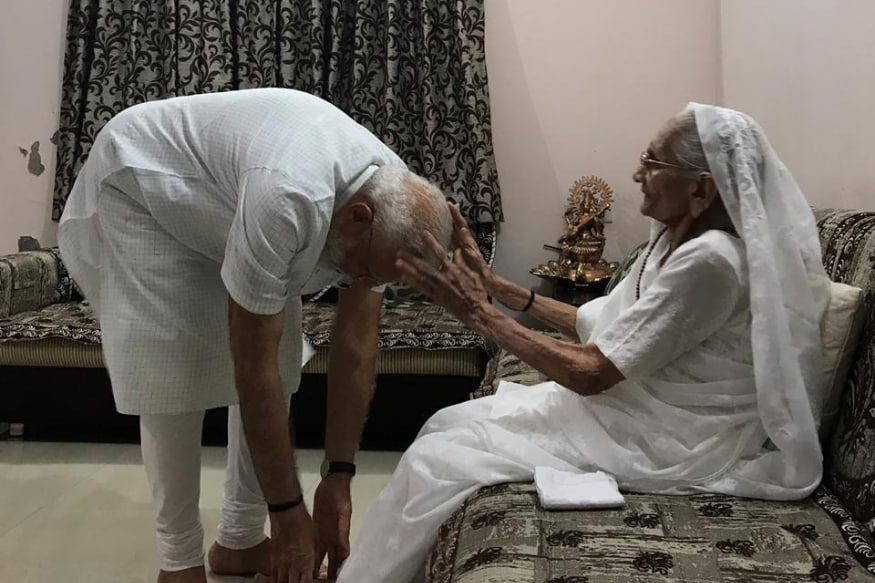 After Big Poll Win, PM Modi Meets Mother in Gujarat's Gandhinagar, Seeks Her Blessings
