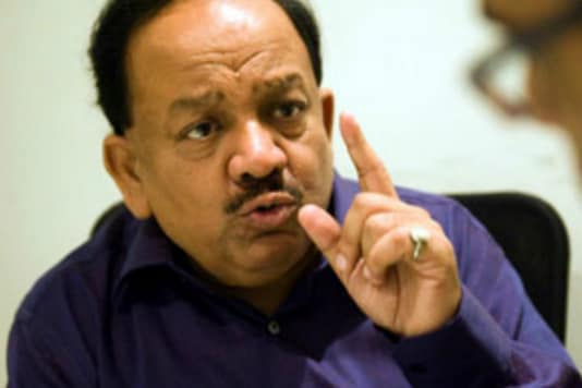 File photo of Union Minister Harsh Vardhan.