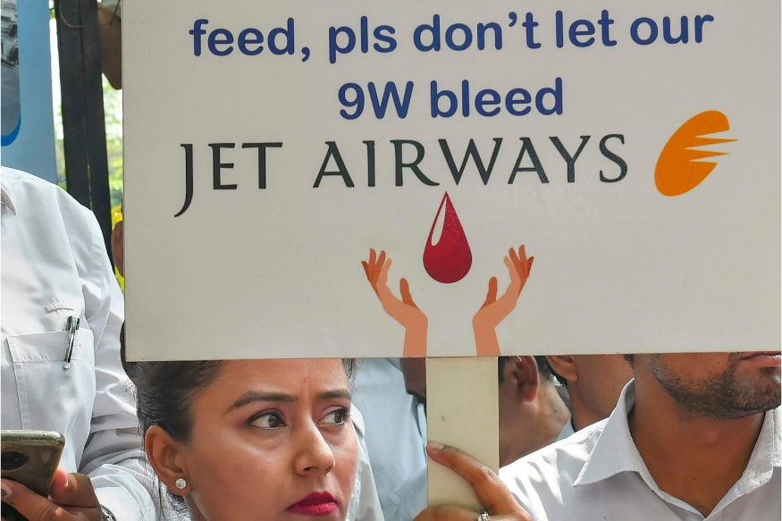 Jet Airways Employees Hold Protest Outside Civil Aviation Ministry, Demand Revival of