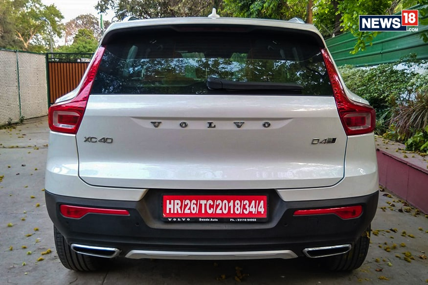 Volvo XC40 rear profile. (Image: Arjit Garg/ News18.com)