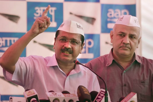 Delhi Chief Minister Arvind Kejriwal with Manish Sisodia. (PTI file photo)