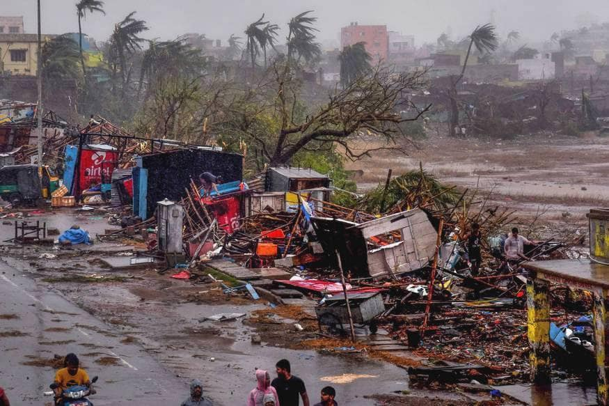 Puri: A view of the destruction caused by Cyclone Fani after its landfall, in Puri, Friday, May 3, 2019. (PTI Photo) (PTI5_3_2019_000174B)