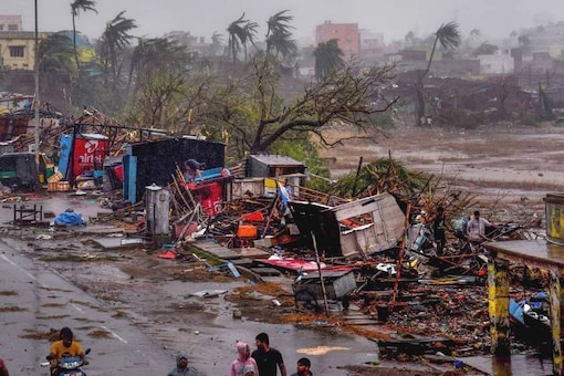 The destruction caused by Cyclone Fani after its landfall in Puri on May 3. (Image : PTI).