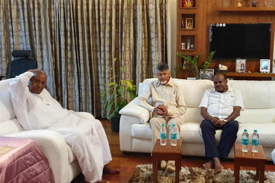 Lok Sabha Election 2019 LIVE: Chandrababu Naidu Meets JDS Leader HD Deve Gowda in