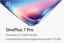 OnePlus 7 Pro Pre-Booking Begins on Amazon India, Bundles Free Screen Replacement