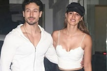 Tiger Shroff, Disha Patani Twin in White As They Arrive Together for SOTY 2 Screening