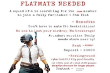PUBG Mobile Addiction: PUBG-Themed Flatmate Ad in Gurgaon is Looking For a New 'Squad Member'
