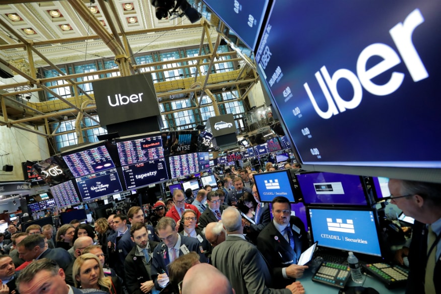 Image result for Uber Makes Rocky Stock Market Debut, Shares Tumble 9% After Opening