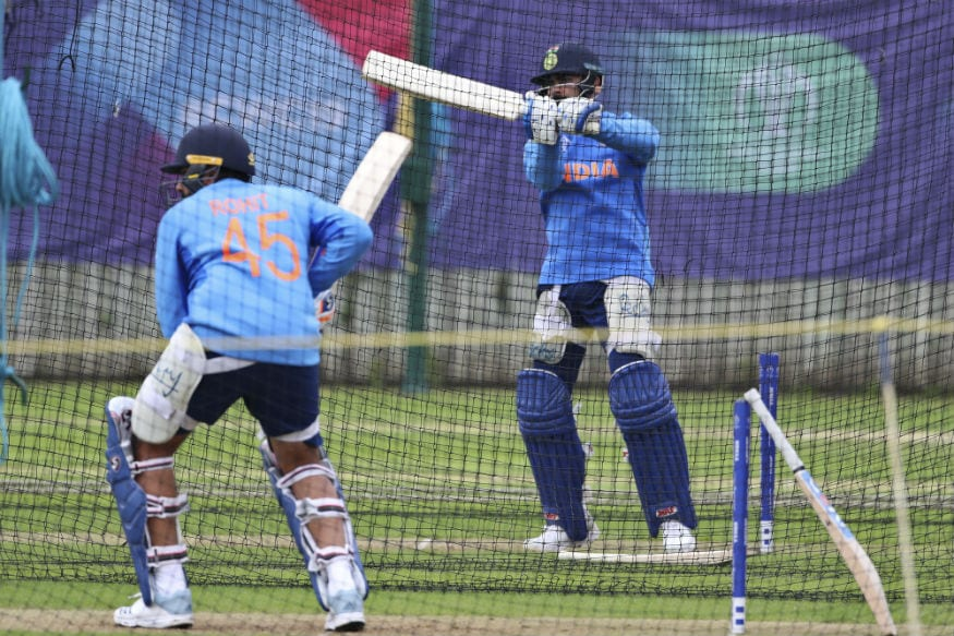 Indian batsmen Rohit Sharma and Virat Kohli in the nets. (Image: AP)