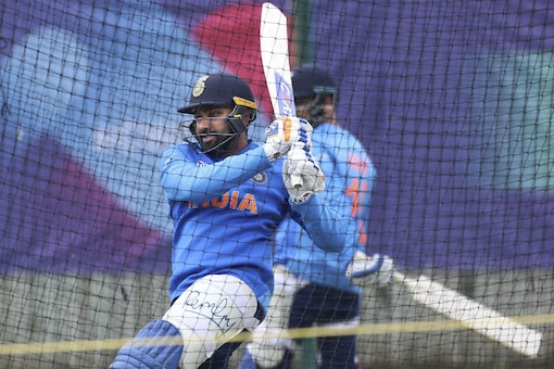 India's Rohit Sharma during a nets session. (Image: AP)