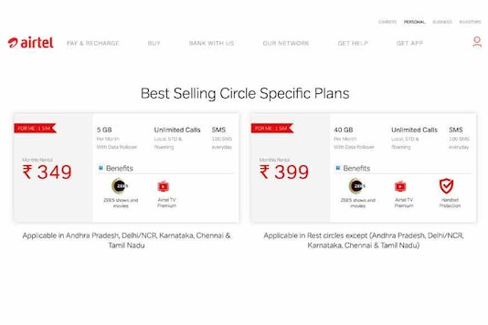 Jio Effect: Airtel Brings Back Rs 349 and Rs 399 Postpaid Plans; Has The ARPU Strategy Not Worked?