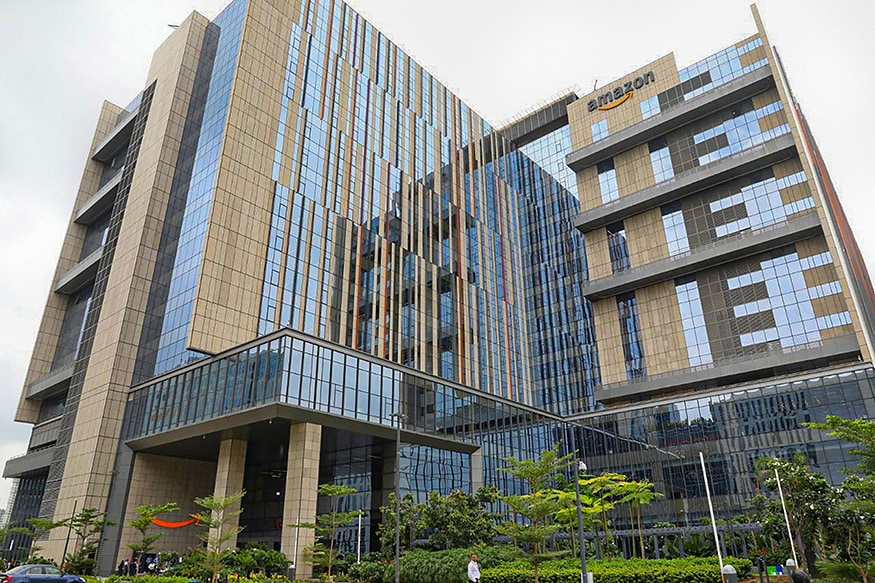 <em>Amazon Building, Hyderabad</em>: E-commerce giant Amazon opened its largest campus building in the world in Hyderabad, reaffirming its long-term commitment to India. The first owned office building of Amazon outside the United States, and its largest building globally, has come up at Nanakramguda in Gachibowli, an information technology cluster. The campus, spread over 9.5 acres, can house more than 15,000 employees of Amazon's over 62,000 employee-base in India.<br />The 1.8 million square feet office space, built on three million sq ft of construction area, is Amazon's single largest building in the world in terms of area. (Image: PTI)