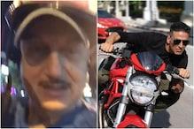 Anupam Kher Turns Vlogger as He Takes Scooter Ride to Meet Sooryavanshi Akshay Kumar in Pattaya
