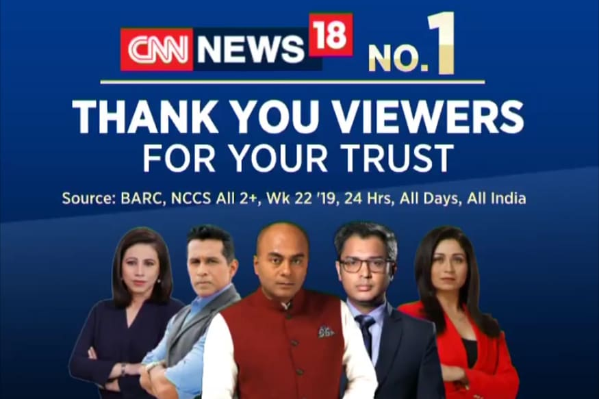 CNN-News18 Reaffirms Its Position as India's No 1 English News Channel
