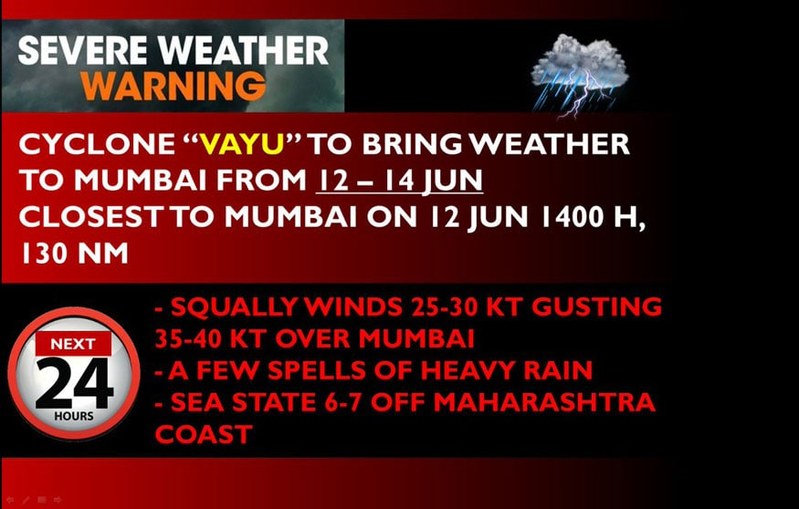Cyclone Vayu Weather Forecast and Reports - In Pictures - Photogallery