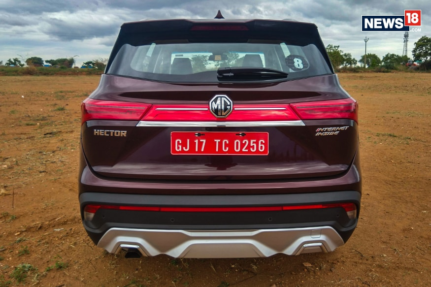 MG Hector rear. (Photo: Arjit Garg/News18.com)