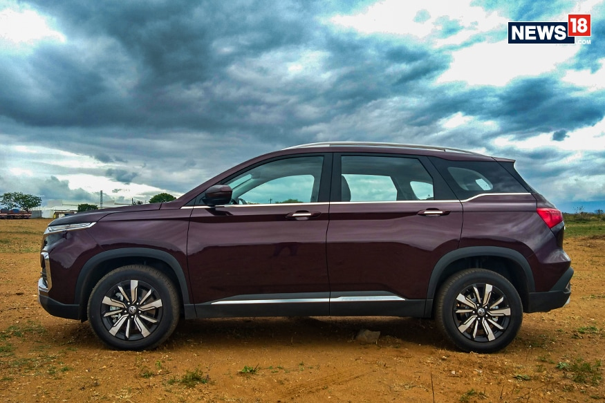 MG Hector side profile. (Photo: Arjit Garg/News18.com)