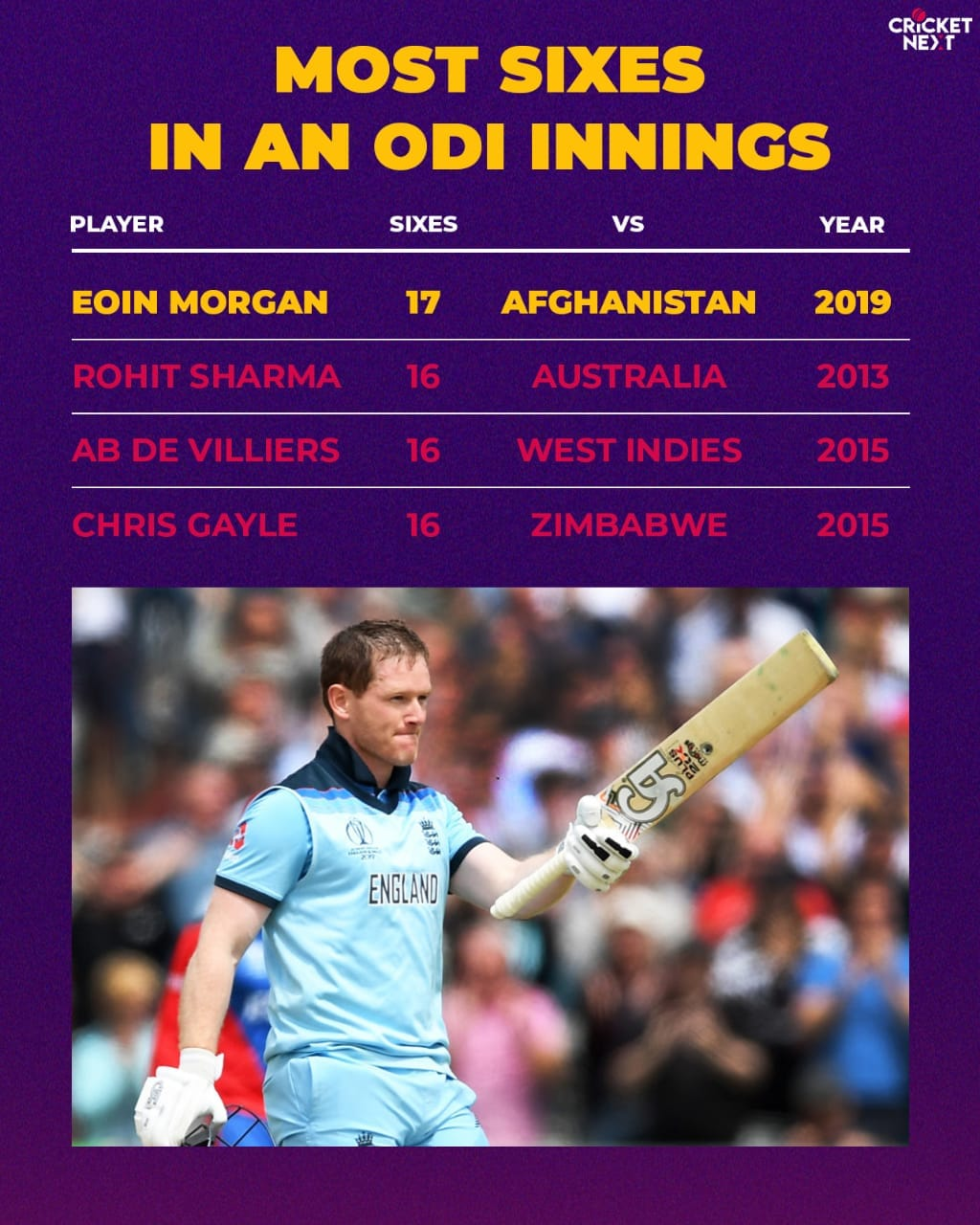 Most sixes in an innings