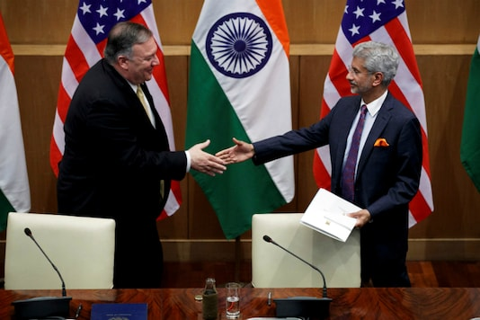 File photo of S Jaishankar and Mike Pompeo. (Reuters)
