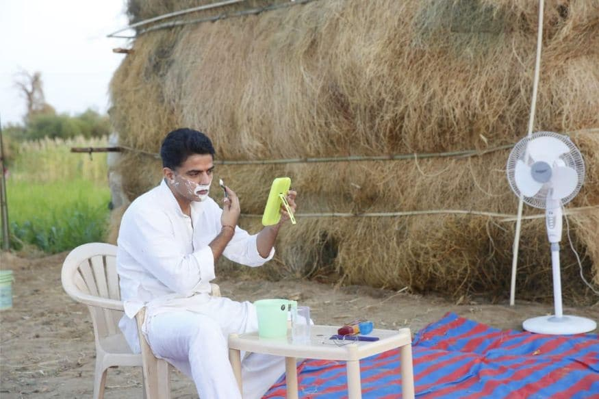 Sachin Pilot Goes 'Desi' Sleeps Under the Stars to Connect to Villagers