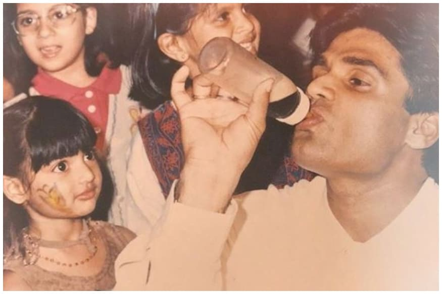 Did You Notice Suniel Shetty's Unusual Drink in This Funny Father's Day Post?